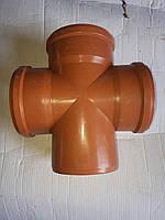 Хрестовина ПВХ для зовнішньої каналізації 160/160/90 (Україна), фото 1