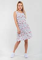 Чарівне жіноче штапельне сукню на гумці з принтом Modniy Oazis білий 90300/1