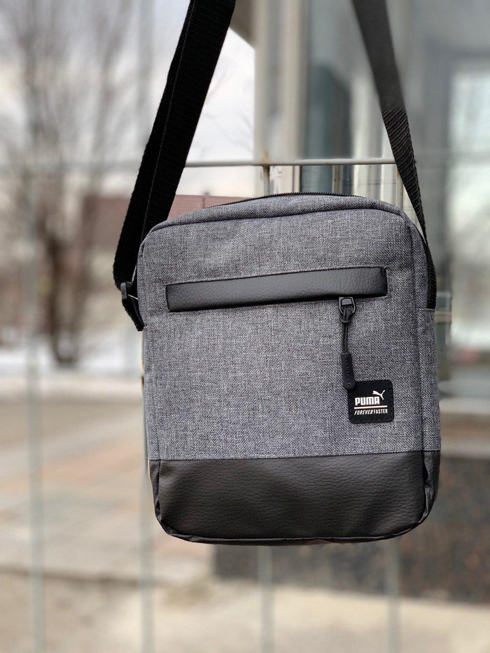 de0f0eecb34c Барсетка мужская, сумка через плечо, мессенджер / серая - Интернет-магазин