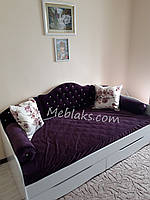 """Детская кровать для девочки """"Л-6"""" с мягкой спинкой и подушками, фото 1"""
