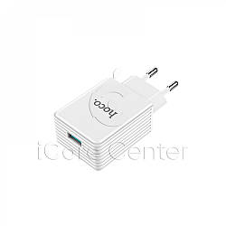 Мережевий зарядний пристрій швидке QC 3.0 Hoco C34A
