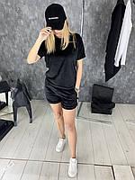 Спортивный костюм женский Doberman D3530 летний велюровый черный