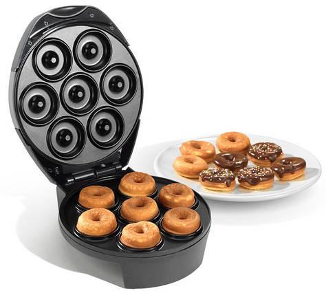 Аппарат для приготовления фигурных пончиков KC1103 на 600 Вт 7 пончиков компактный качественный прибор, фото 2