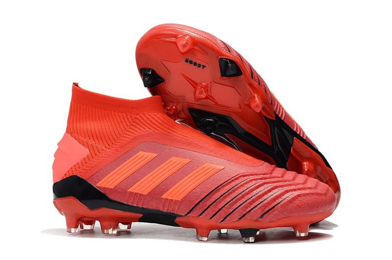 50b3fb80 Бутсы adidas Predator 19+ FG red - Интернет-магазин