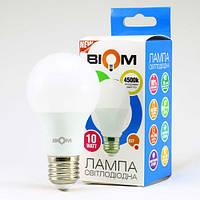 Светодиодная лампа Biom BT-510 A60 10W E27 4500К (нейтральный свет) матовая