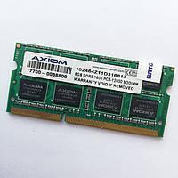 Оперативная память для ноутбука Axiom SODIMM DDR3 8Gb 1600MHz 12800S CL11 (102464Z11D316813) Б/У, фото 1