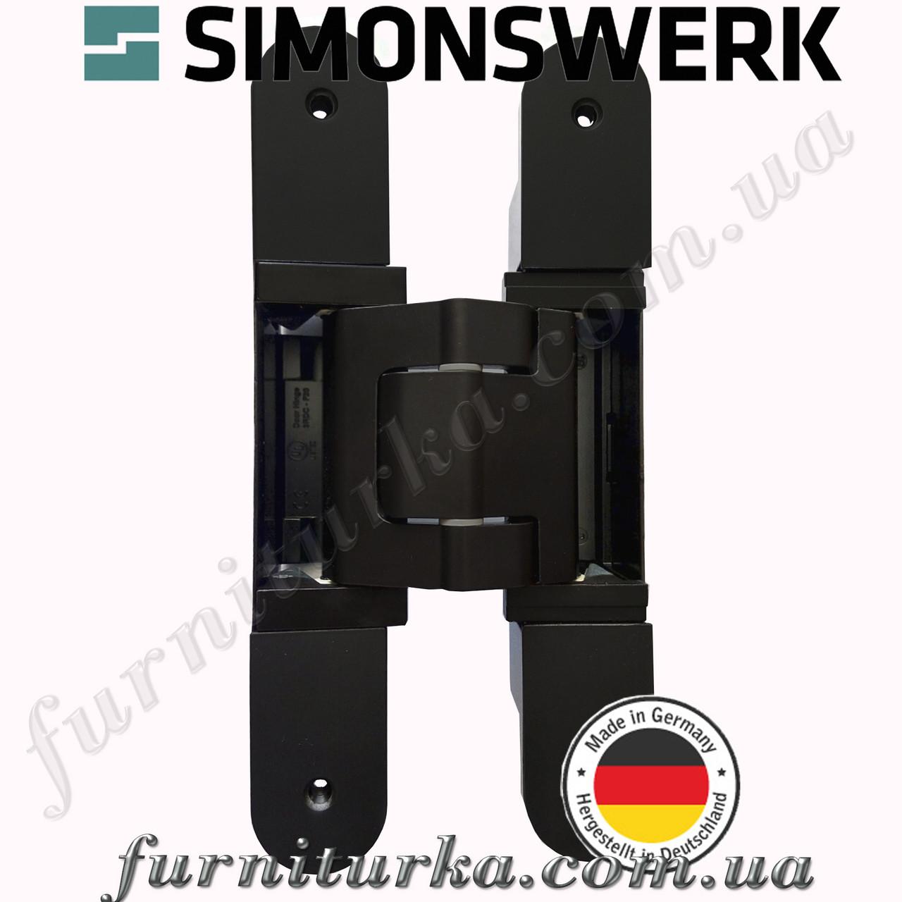 Скрытая дверная петля Tectus TE 540 3D А8 9005 (черная) 100 кг