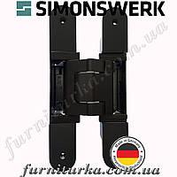 Скрытая дверная петля Tectus TE 540 3D А8 9005 (черная) 100 кг, фото 1