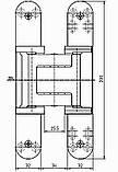 Скрытая дверная петля Tectus TE 540 3D А8 9005 (черная) 100 кг, фото 2