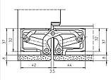 Скрытая дверная петля Tectus TE 540 3D А8 9005 (черная) 100 кг, фото 3