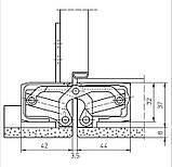 Скрытая дверная петля Tectus TE 540 3D А8 9005 (черная) 100 кг, фото 4