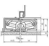 Скрытая дверная петля Tectus TE 540 3D А8 9005 (черная) 100 кг, фото 5