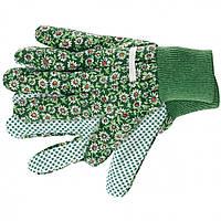 Перчатки садовые х/б ткань с ПВХ точкой манжет L Palisad 677638, фото 1