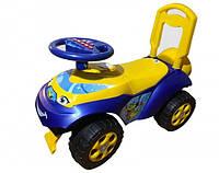 Детская машинка беговел (толокар) синий, желтый