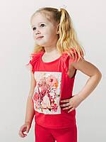 Майка для девочки ТМ Смил арт. 110527, возраст от 2 до 6 лет