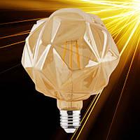 Светодиодная лампа Horoz RUSTIC CRYSTAL-6 6W Filament LED E27