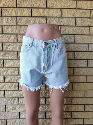 Шорты женские джинсовые коттоновые с высокой посадкой CHENCLONG, фото 2