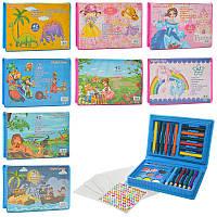 Набор для творчества, карандаши, фломастеры, мелки, акварельные краски, MK2115