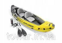 Двухместная надувная лодка INTEX 68307