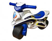 Детский музыкальный полицейский мотоцикл мини байк беговел
