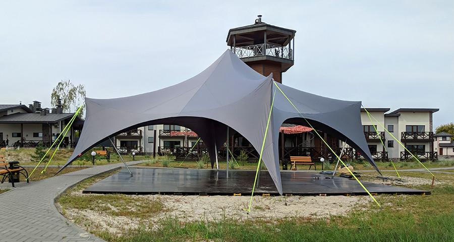 Шатер палатка Спайдер, 10х10 м, белый, большой. Шатер Паук