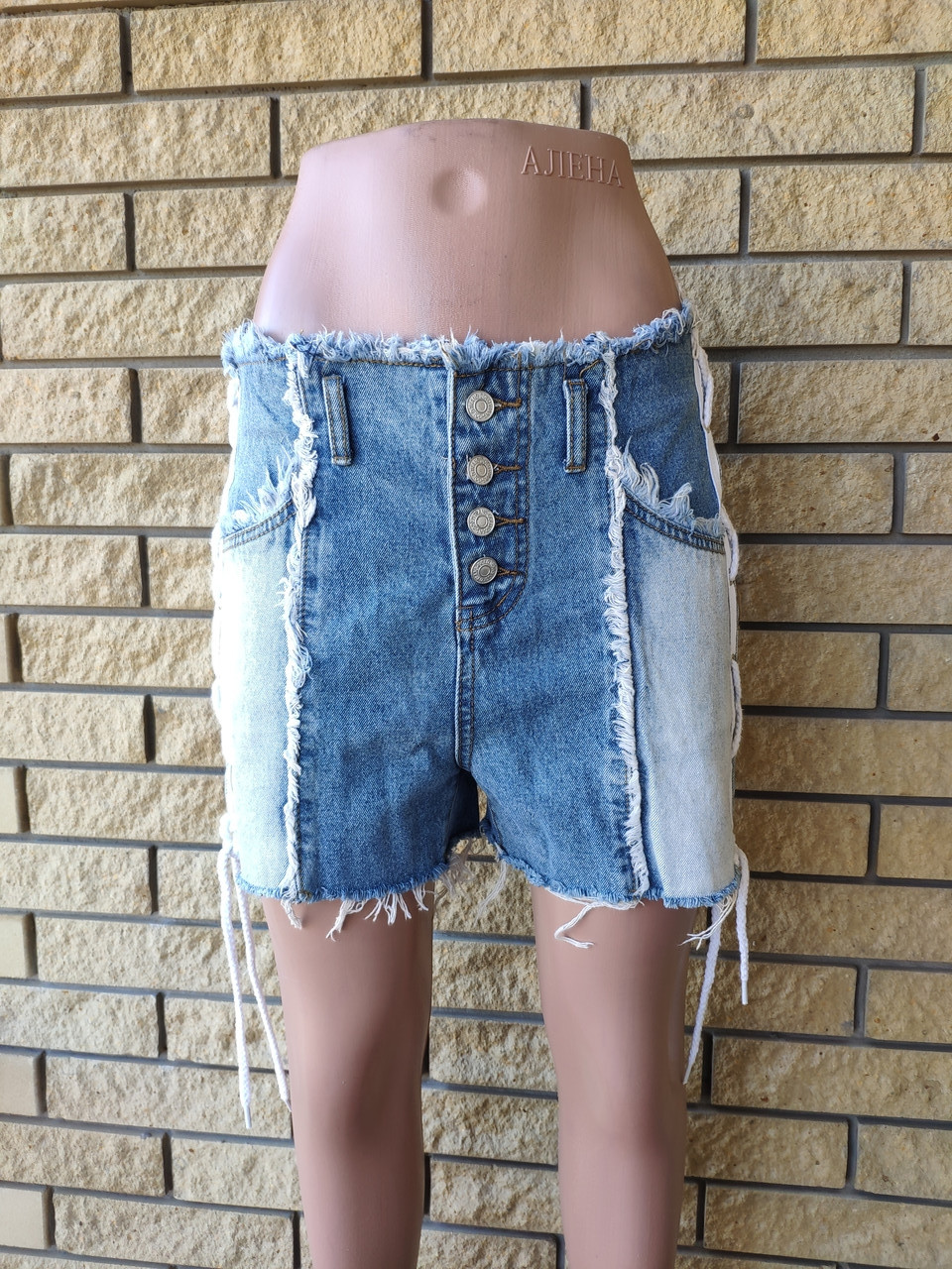 Шорты женские джинсовые коттоновые с высокой посадкой AIWEINI