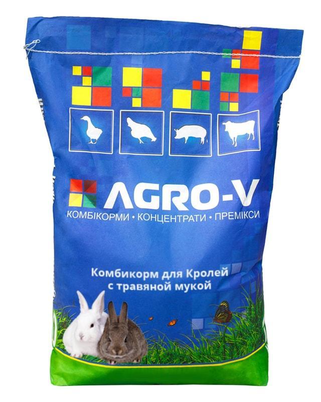 Комбікорм Кролі з трав'яною мукою