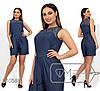 Комбинезон женский из летнего джинса (2 цвета) - Темно-синий PY/-0179