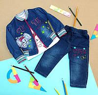 Костюм джинсовый для девочки. 80-86, 90