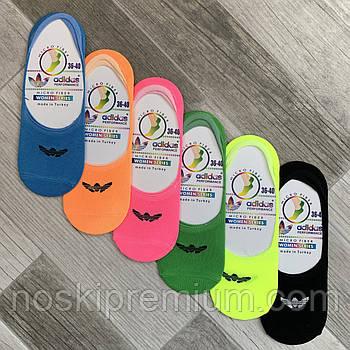 Подследники женские микрофибра Adidas, Турция, 36-40 размер, ассорти, 02555