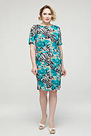 Платье  Мозайка бирюзовый