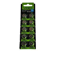 Батарейки литиевые, VIDEX, таблетка, AG13 LR44, блистер — 10 шт