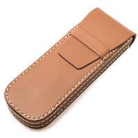 Футляр для ручек кожаный HG004 Tan, фото 1