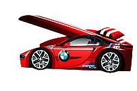 Кровать машина BMW с матрасом, спойлером и подушкой Детская кровать машина BMW Серия Elite