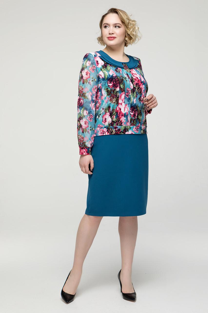 Платье  Инесса бирюзовый