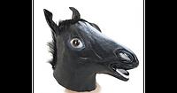 Маска Карнавал латексная Лошадь Черная