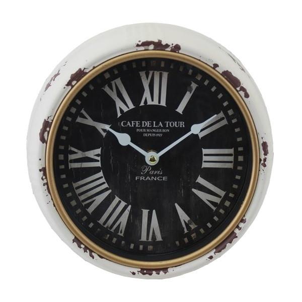 Часы настенные, круглые, металл, белый