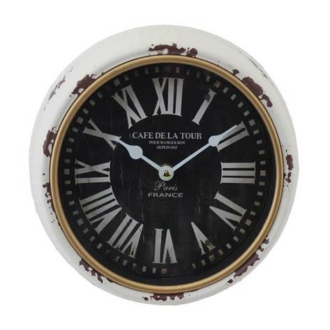 Часы настенные, круглые, металл, белый, фото 2