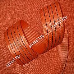 Тесьма полиэстеровая 50 мм х 50 метров 4 тонны - лента для стяжных ремней