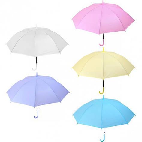 Зонтик - трость детский цветной однотонный 96, фото 2