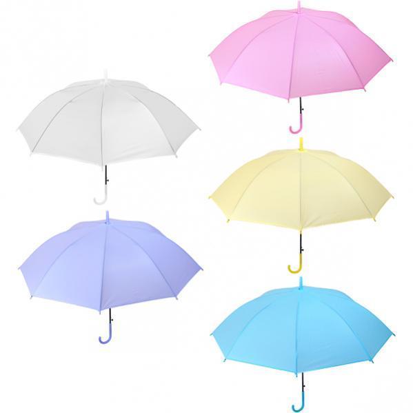 Зонтик - трость детский цветной однотонный 96