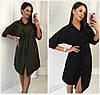 Сукня-сорочка з розрізами з боків Батал до 56 р 18645-1