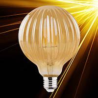 Светодиодная лампа Horoz RUSTIC MERIDIAN-6 6W Filament LED E27