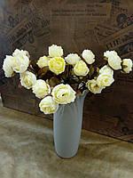 Цветы искусственные букеты розочки мини 35см