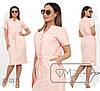 Платье женское с кулиской на талии (2 цвета) - Розовый PY/-0181