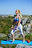 Йога ролер набір 3 в 1 PowerPlay 4022 Чорно-Оранжевий, фото 5