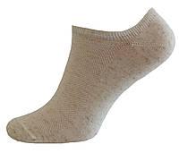 Короткие летние носки сеточка лен (нулевка)