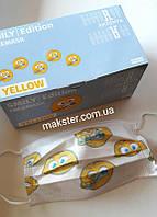 Медицинские маски Akzenta Smily Ellow (смайлы)