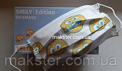 Медицинские маски Akzenta Smily Ellow (смайлы), фото 3
