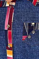 Туніка-вільна сорочка для великих жінок Симона, фото 3